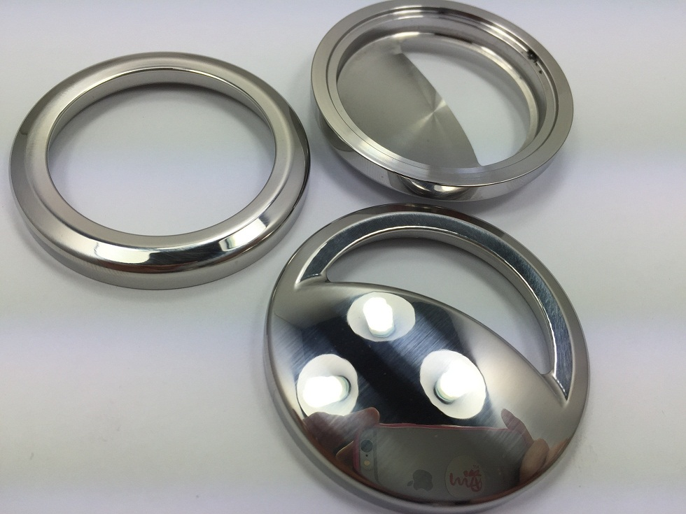 Custom cnc turning parts with mirror polish