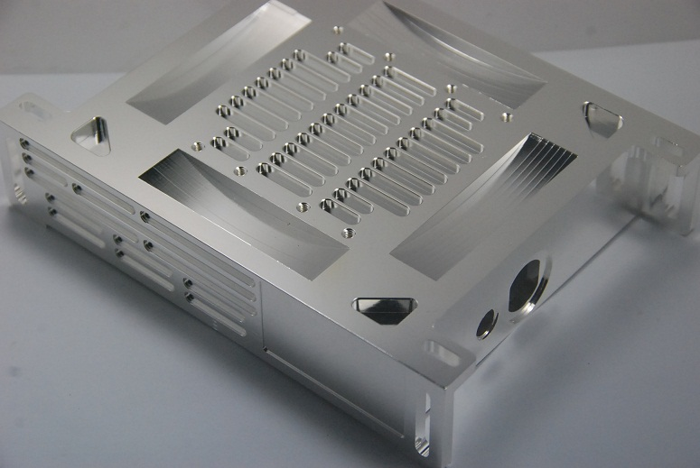 Aluminum box with chrome plating